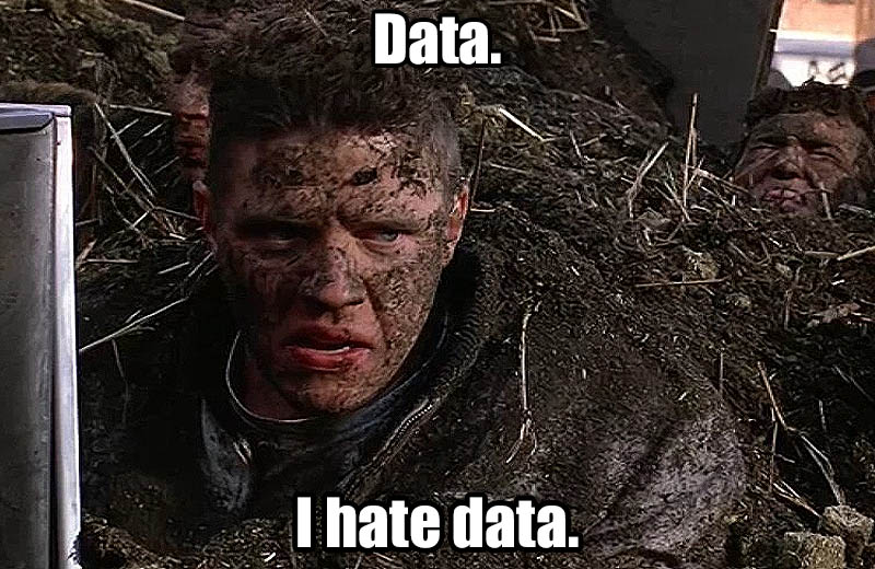 Back to the Future - I hate data.